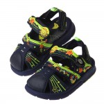 (16~18.5公分)GP綿綿陽光小星星藍綠色磁扣式兒童護趾涼鞋I#HD3NB*XBX