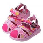 (16~18.5公分)GP綿綿陽光小星星粉紅色磁扣式兒童護趾涼鞋I#HD4NG*XGX