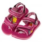 (16~18.5公分)GP甜美風格磁扣式桃紅色兒童運動涼鞋