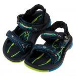 (16~18.5公分)GP簡約休閒磁扣式淺藍色兒童運動涼鞋