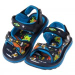 (14.5~18.5公分)GP動物派對磁扣式藍色兒童運動涼鞋