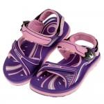 (17~21.5公分)GP現代風格磁扣式紫色橡膠兒童運動涼鞋