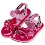 (19~23公分)GP夢幻花園磁扣式桃色橡膠兒童運動涼鞋