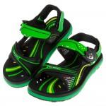 (17~21.5公分)GP現代風格磁扣式綠色橡膠兒童運動涼鞋