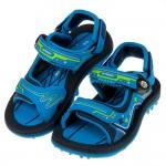 (16~18.5公分)GP童趣科技磁扣式藍色橡膠兒童運動涼鞋