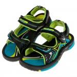 (20~23公分)GP流線風格磁扣式綠色橡膠兒童運動涼鞋