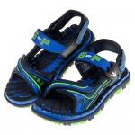 (19~22公分)GP排水速乾磁扣式藍色橡膠兒童運動涼鞋