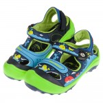 (16~20公分)GP小鯨魚磁扣式藍綠色橡膠兒童護趾涼鞋