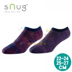 sNug除臭襪-運動船襪-緞染棗紅-緞染紫(22~27公分)