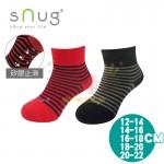 sNug除臭襪-健康童襪-黑灰-紅藍(12~20公分)