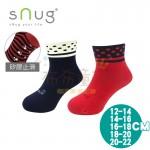 sNug除臭襪-健康童襪-紅點-藍點(12~20公分)