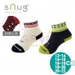 sNug除臭襪-健康童襪-方塊綠-方塊紅(12~20公分)