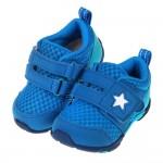 (12~14.5公分)Moonstar日本水藍之星透氣止滑寶寶機能學步鞋P#MU3NB*BXX