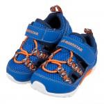 (13~16公分)Moonstar日本寶藍網布透氣寶寶機能學步鞋P#MN3NB*BBX
