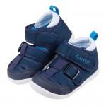 (12.5~14.5公分)Moonstar日本Carrot速乾深藍色透氣寶寶機能學步涼鞋P#MB3NB*BXX