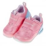(12.5~14.5公分)Moonstar日本3E寬楦粉色光澤感寶寶機能學步鞋P#MU4NG*GXX