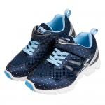 (19~24公分)Moonstar日本點點深藍亮皮3E兒童機能運動鞋P#KU3NB*XXG