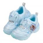 (15~19公分)Moonstar日本冰雪奇緣雪花藍色電燈機能運動鞋P#KN3LB*XGX