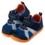 Moonstar日本TSUKIHOSHI海藍透氣寶寶機能學步鞋(13~14.5公分)