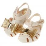 (12.5~17.5公分)ZAXY童趣金蔥大蝴蝶結米色寶寶公主涼鞋(香香鞋)