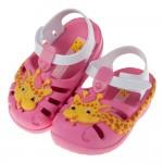 (12.5~17.5公分)Ipanema童趣可愛長頸鹿粉色寶寶涼鞋香香鞋
