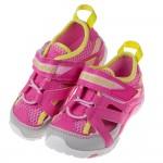 (15~20公分)Moonstar日本粉色極通風透氣兒童機能運動鞋