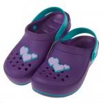 (15~19公分)Rider心心相印紫色兒童布希鞋