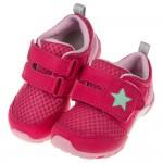 (15~21公分)Moonstar日本桃紅之星透氣止滑兒童機能運動鞋