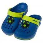 (15~19公分)Rider足球風藍色兒童布希鞋