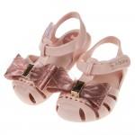 (12.5~17.5公分)ZAXY童趣金蔥大蝴蝶結粉色寶寶公主涼鞋(香香鞋)