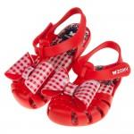(13~15.5公分)ZAXY童趣經典格紋蝴蝶結紅色寶寶公主涼鞋(香香鞋)
