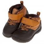 (15~21公分)Moonstar日本雪地遊玩棕色刷毛兒童機能運動鞋(雪靴)