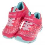 (15~21公分)Moonstar日本活力躍動粉色兒童機能運動鞋