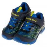 (15~21公分)Moonstar日本活力躍動藍色兒童機能運動鞋