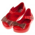 (12.5~17.5公分)ZAXY夢幻蝴蝶結紅色寶寶香香鞋