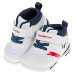 (13~18公分)Moonstar日本白藍色閃亮之星兒童機能運動鞋