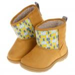 (13~15公分)Moonstar日本童趣黃色兒童刷毛寶寶靴