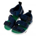 (16~21公分)Moonstar日本深藍速乾涼爽兒童機能涼鞋