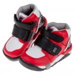 (15~21公分)Moonstar日本Carrot紅黑色兒童機能矯健鞋(醫師推薦矯正鞋)