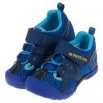 (15~19公分)Moonstar日本藍色網布透氣兒童機能運動鞋