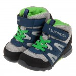 (15~21公分)日本TSUKIHOSHI深藍灰色中筒兒童機能運動鞋