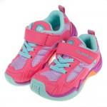 (15~21公分)日本TSUKIHOSHI桃粉色兒童機能透氣運動鞋