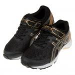 (19~24公分)asics亞瑟士LAZERBEAM黑金色兒童機能運動鞋C#KU3ND*XBB