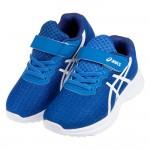 (17~24公分)asics亞瑟士LAZERBEAM藍色針織網布兒童機能運動鞋C#KU4NB*XXB