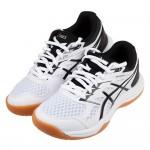 (20~25公分)asics亞瑟士UPCOURT白黑色膠底兒童機能運動鞋羽球鞋C#KU3GM*XXM