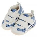 (11.5~13.5公分)asics亞瑟士藍白小星星中筒寶寶機能學步鞋
