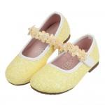 (15.5~20公分)閃亮花舞黃色兒童公主鞋R#FH3HK*XGX