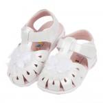 (13.5~17公分)蕾絲蝴蝶白色真皮寶寶涼鞋R#HD3NM...