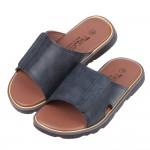 (16~23公分)藍色皮質可調式拖鞋R#BE3NB*XBX