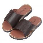 (16~23公分)咖啡色皮質可調式拖鞋R#BE3NI*XBB